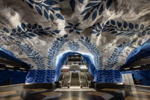 Every Stockholm station has its own art decoration.