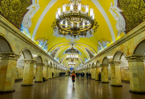 MOSCOW, RUSSIA: Moscow's extensive Metro system involves lots of very deep stations that were partly designed as bomb ...