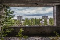 Inside the hotel in abandoned Pripyat city in Chernobyl Exclusion Zone, Ukraine.