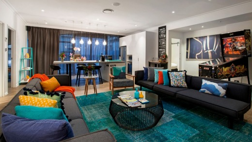 Penthouse, Ovolo Laneways Melbourne, features contemporary artwork and  plenty of technology.