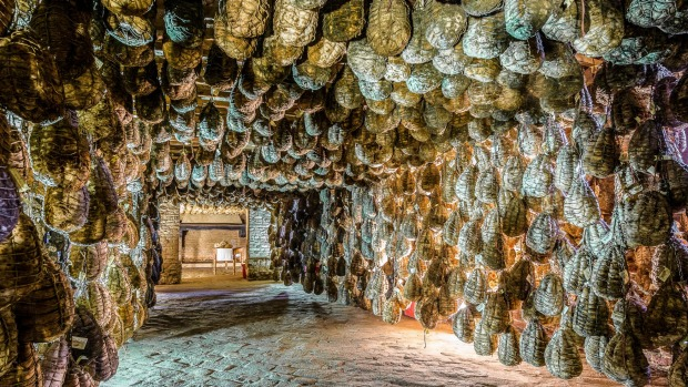 Polesine Parmense, the cellars for the ageing of salted pork in the Antica Corte Pallavicina Relais.