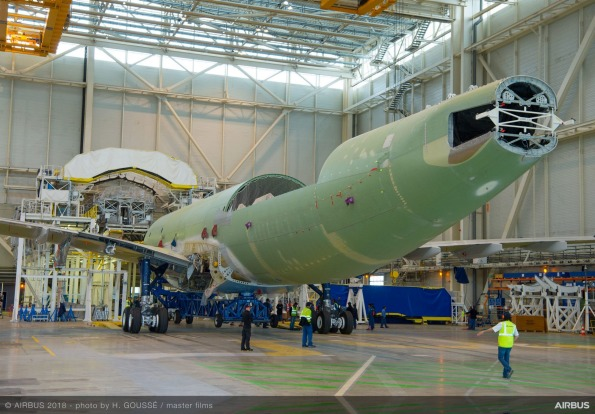 The second BelugaXL super transporter is already under construction.