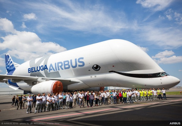 The whale livery was chosen in a poll of 20,000 Airbus employees.