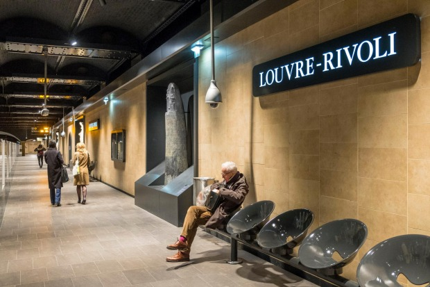 PARIS, FRANCE: There are some treasures hidden inside the Paris Metro stations – Louvre-Rivoli has replicas of ancient ...