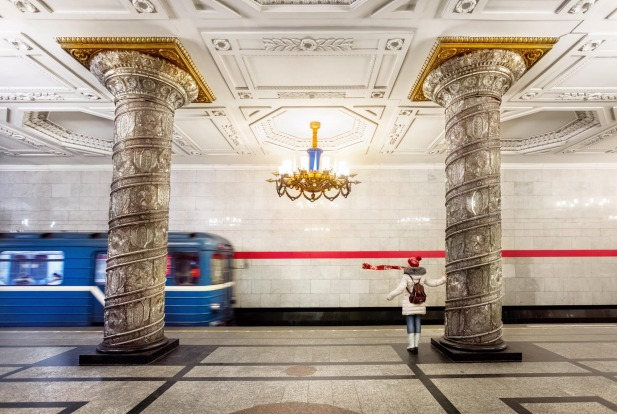Metro station Avtovo in Saint Petersburg, Russia.