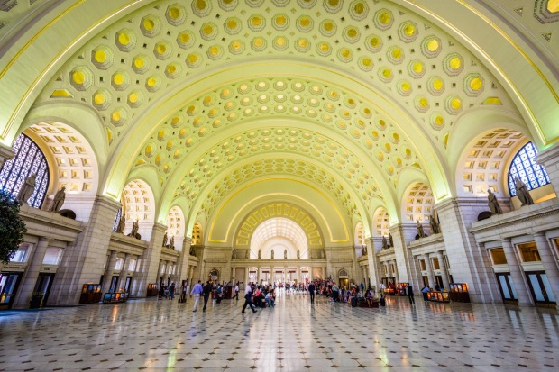 WASHINGTON DC, USA: Washington DC's startlingly brutalist stations carry a space-age look that was in vogue in the 1960s.
