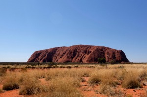 10.6 kilometre walking trail loops around the base of Uluru.