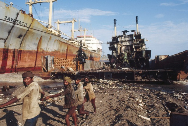 When ships get truly dilapidated they're sold for scrap, with parts and metals recycled. Most end up in one of the ...