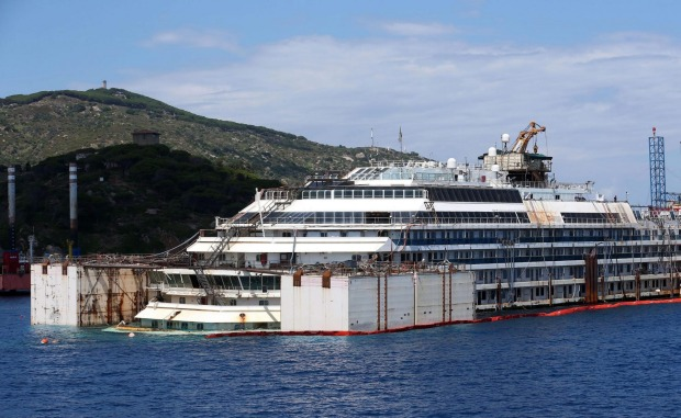 The notorious Costa Concordia, which ran aground off Italy in 2012 killing 32 people, was eventually re-floated at ...