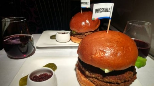 Air NZ: On board with the beef-free Impossible Burger.