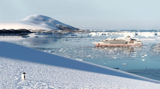 Le Lyrial in Antarctica.