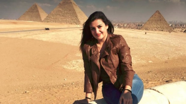 Tourist Mona el-Mazbouh has been sentenced to eight years' jail in Egypt.