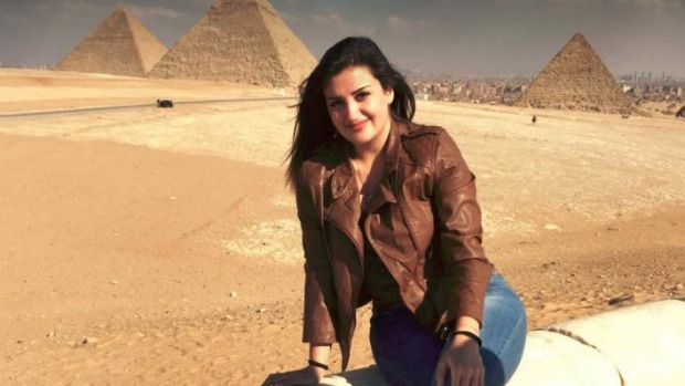 Tourist Mona el-Mazbouh was originally sentenced to eight years' jail in Egypt.