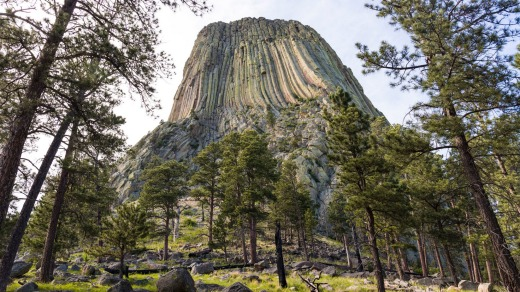While climbing sacred Devils Tower is permitted, it is requested people refrain during the month of June.