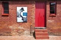The entrance door of the Mandela home now transformed into a museum.