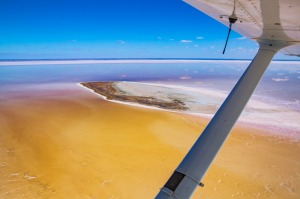 Kati Thanda ? Lake Eyre in flood, 2018. The South Australian Outback has been transformed into a spectacular, colourful ...