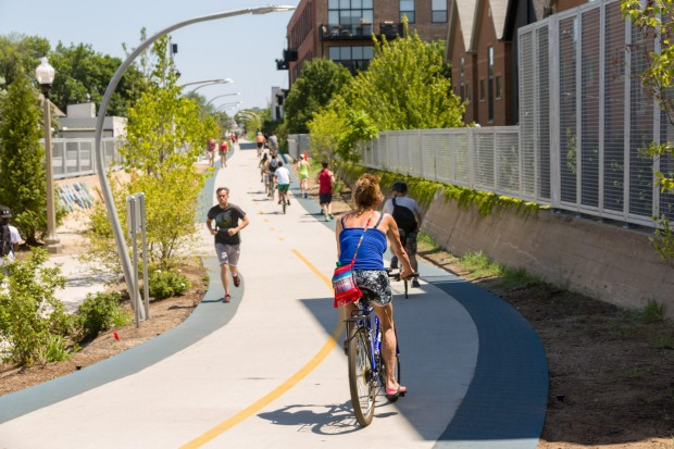 "The Bloomingdale Trail, Chicago: One of the best ""answers to New York's High Line"" is the 4.3km Bloomingdale Trail, ..."