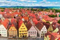 Old Town architecture in Rothenburg ob der Tauber.
