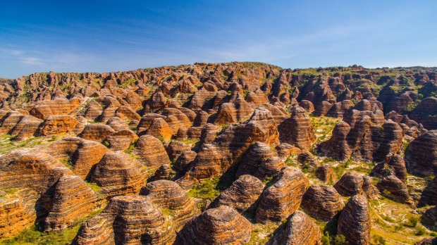 THE BUNGLE BUNGLES, KIMBERLEY, WESTERN AUSTRALIA: It's hard to appreciate the sheer size and majesty of the Kimberley ...