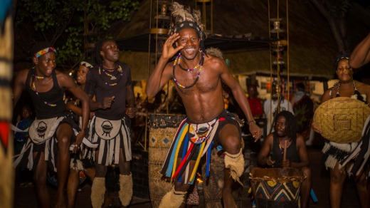 Traditional dancers at the Boma.