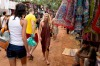 Female tourists in market in Goa, India. The country has been ranked the world's most dangerous for women.