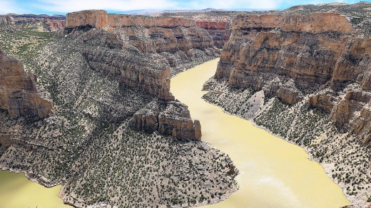 Bighorn Canyon, the third largest in the US.