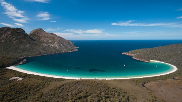 The new pavilions are a short distance from the national park's famous Wineglass Bay.