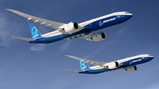 Boeing 777-9X and 777-8X.