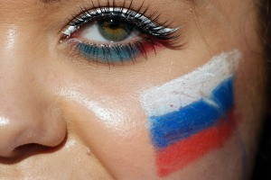 A Russian fan during the World Cup.