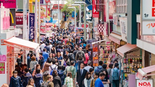Takeshita Street in Harajuku is considered a birthplace of Japan's fashion trends.