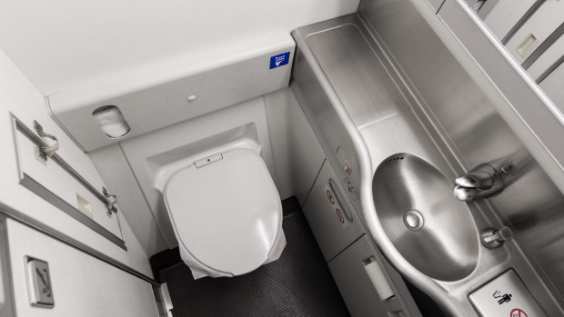 Plane toilet sizes  Passenger struggle to fit into shrinking bathrooms c749269958a94