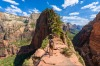 Zion National Park: The second, Angel's Landing, is a terrifying kilometre-long hike over a narrow fin of rock with 1700 ...