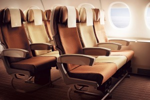 Singapore Airlines's A330 economy class.