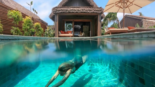 The 24 villas and suites all have  private pools,