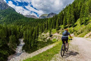 Cycling in Cortina d'Ampezzo.