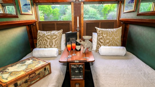 A cabin on the 24-passenger Stimela Star.