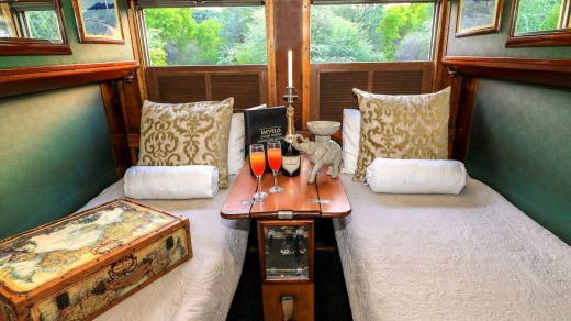 A luxury sleeper train in Zimbabwe.