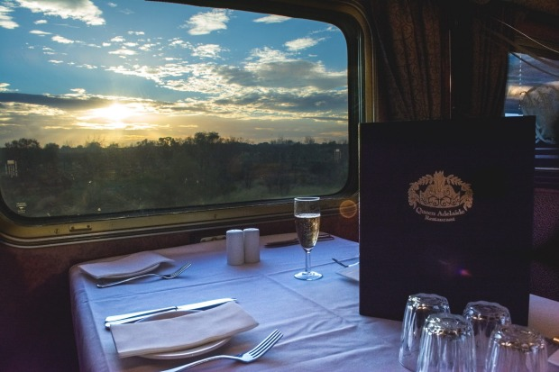 The Dining Room on The Ghan.
