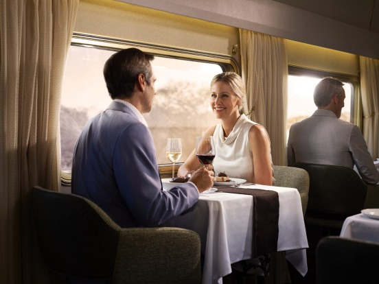 Dining on The Ghan.