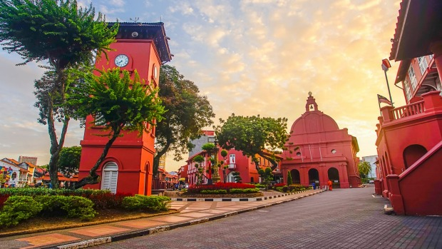 Red Square, also known as Dutch Square, Melaka.
