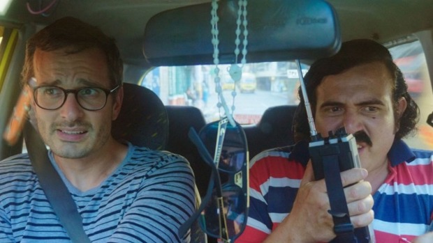 New Zealand journalist David Farrier, left, in Dark Tourist
