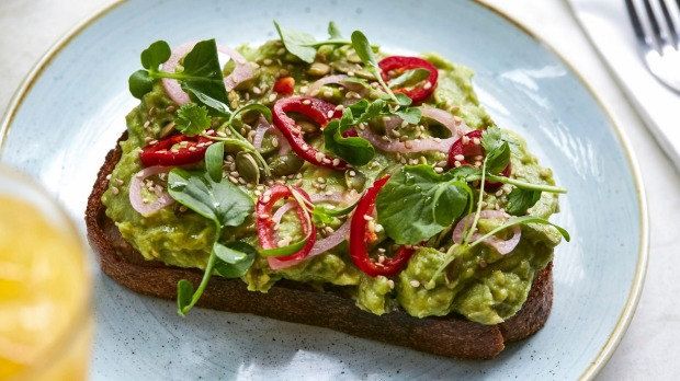 Avo toast at Two Hands in New York.