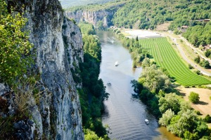 The Lot river from  Saint Cirq Lapopie, the most beautiful village in France.