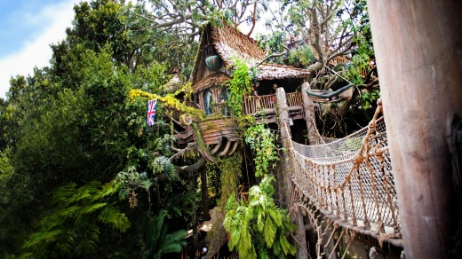 Disneyland Park guests can explore the story of Tarzan as they climb through Tarzan's Treehouse in Adventureland.