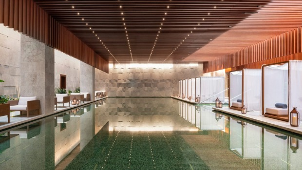 Pool at Bulgari Shanghai.