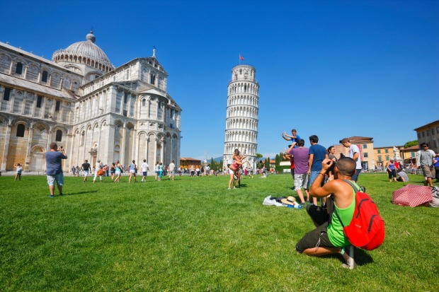 The Leaning Tower of Pisa, Italy: The tower wouldn't be cheesy if it wasn't for the busloads of tourists coming to take ...