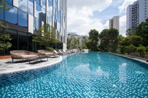 The Novotel Singapore on Stevens has two outdoor pools to chill by.