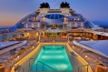 The pool deck on Seabourn Ovation.