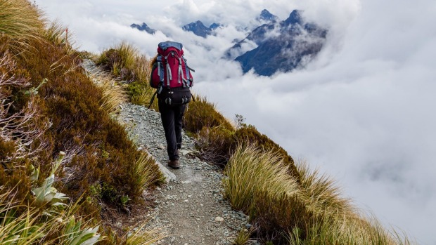 Among clouds: Hiking the Routeburn.