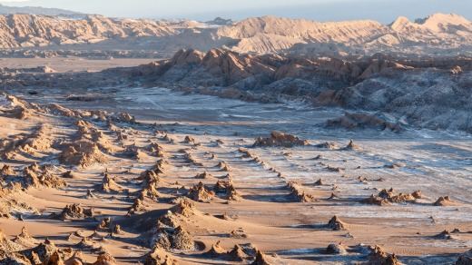 A valley in the Atacama Desert in Chile.
